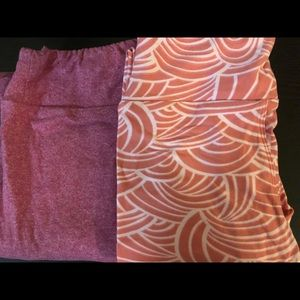 LulaRoe tween twin pack. Both new.